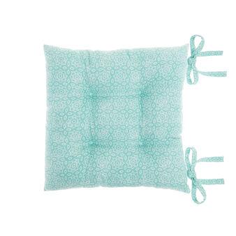 Cuscino da sedia puro cotone microfantasia