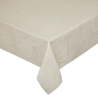 Cotton and lurex tablecloth with jacquard weave