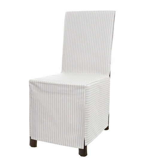 Striped fabric chair cover
