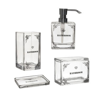 Glass Bathroom accessories set