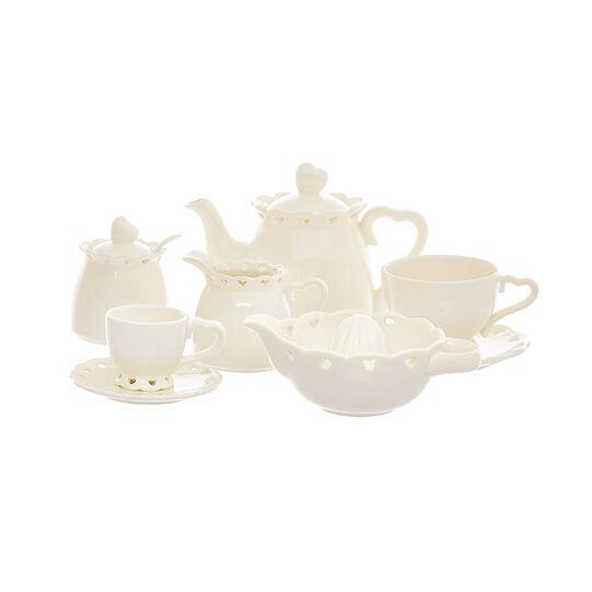 Lattiera ceramica cuori traforati