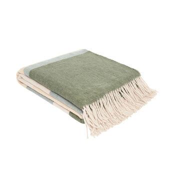 Cotton blend striped throw