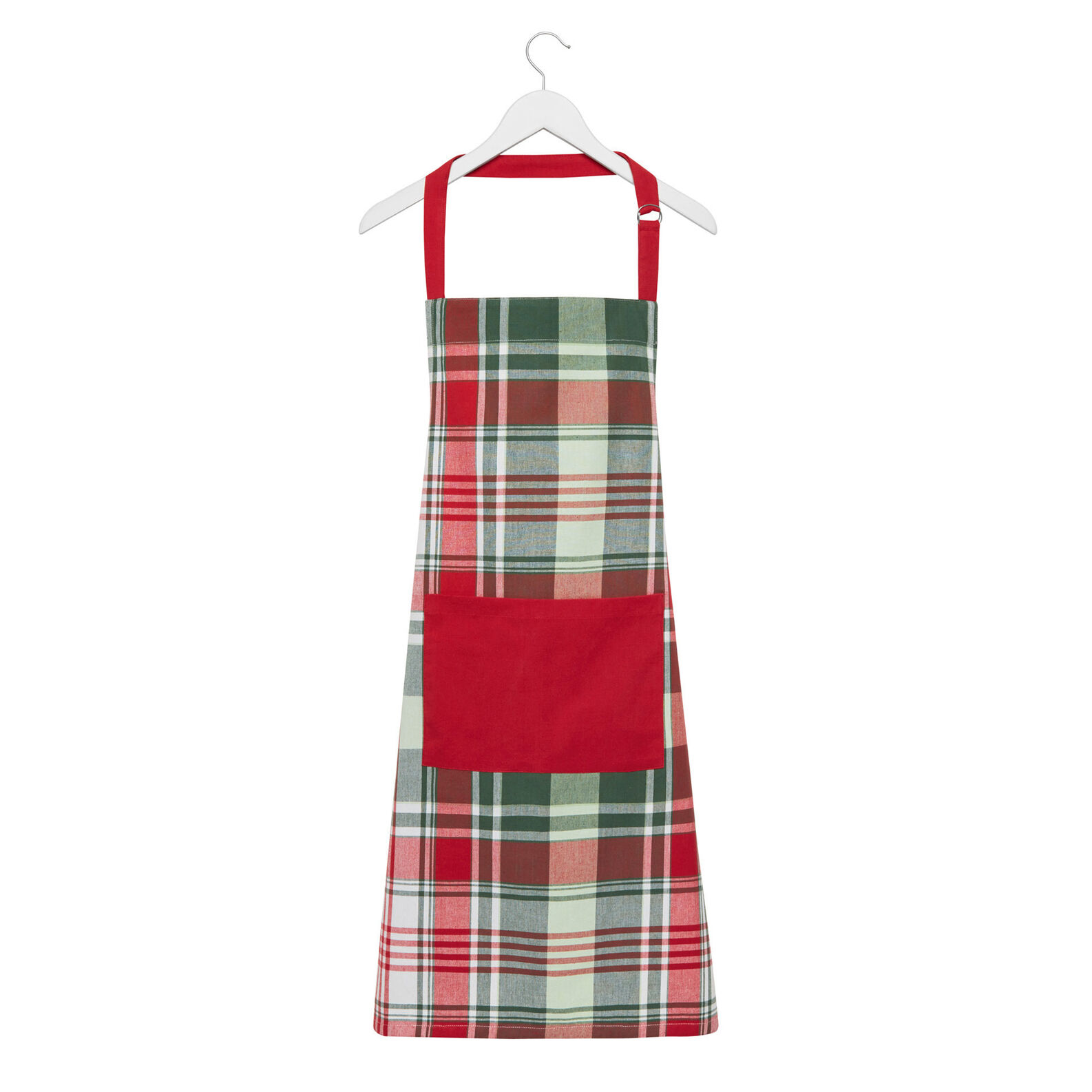 Yarn-dyed kitchen apron in 100% cotton with check motif