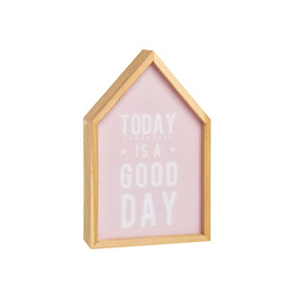 Wooden LED light box house with Today Is A Good Day lettering