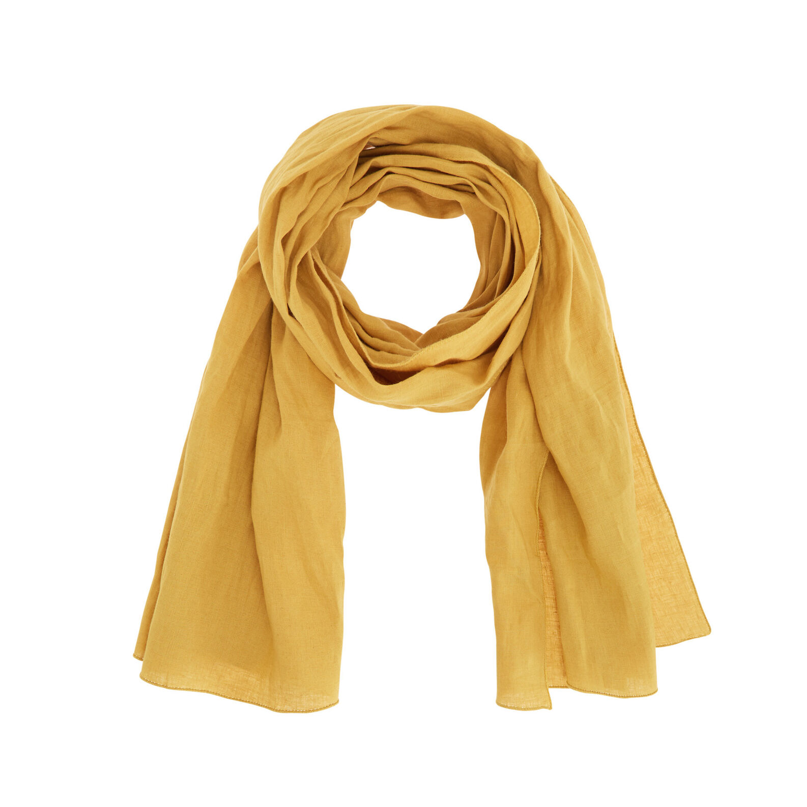 Solid colour 100% linen scarf.