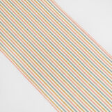 Linen blend striped table runner