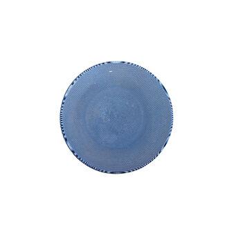 Side plate in polka dot glass