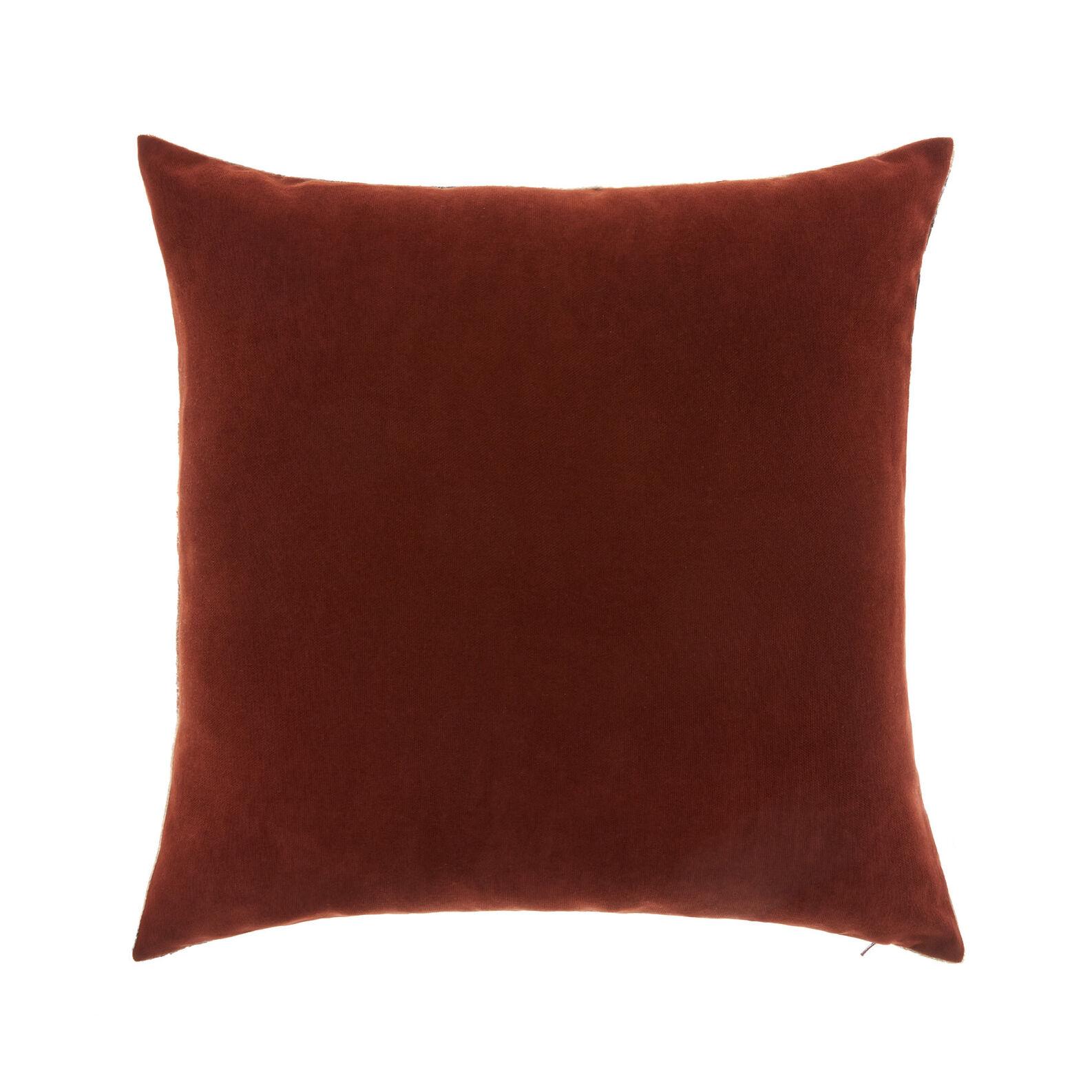 Velvet cushion with geometric motif 45 x 45 cm