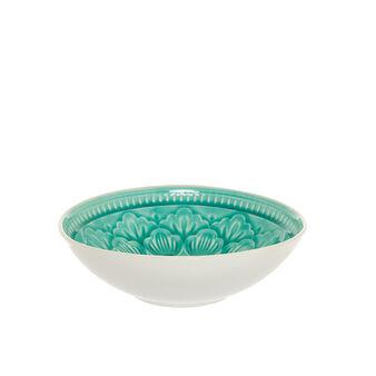 Piatto fondo ceramica decorata Noa