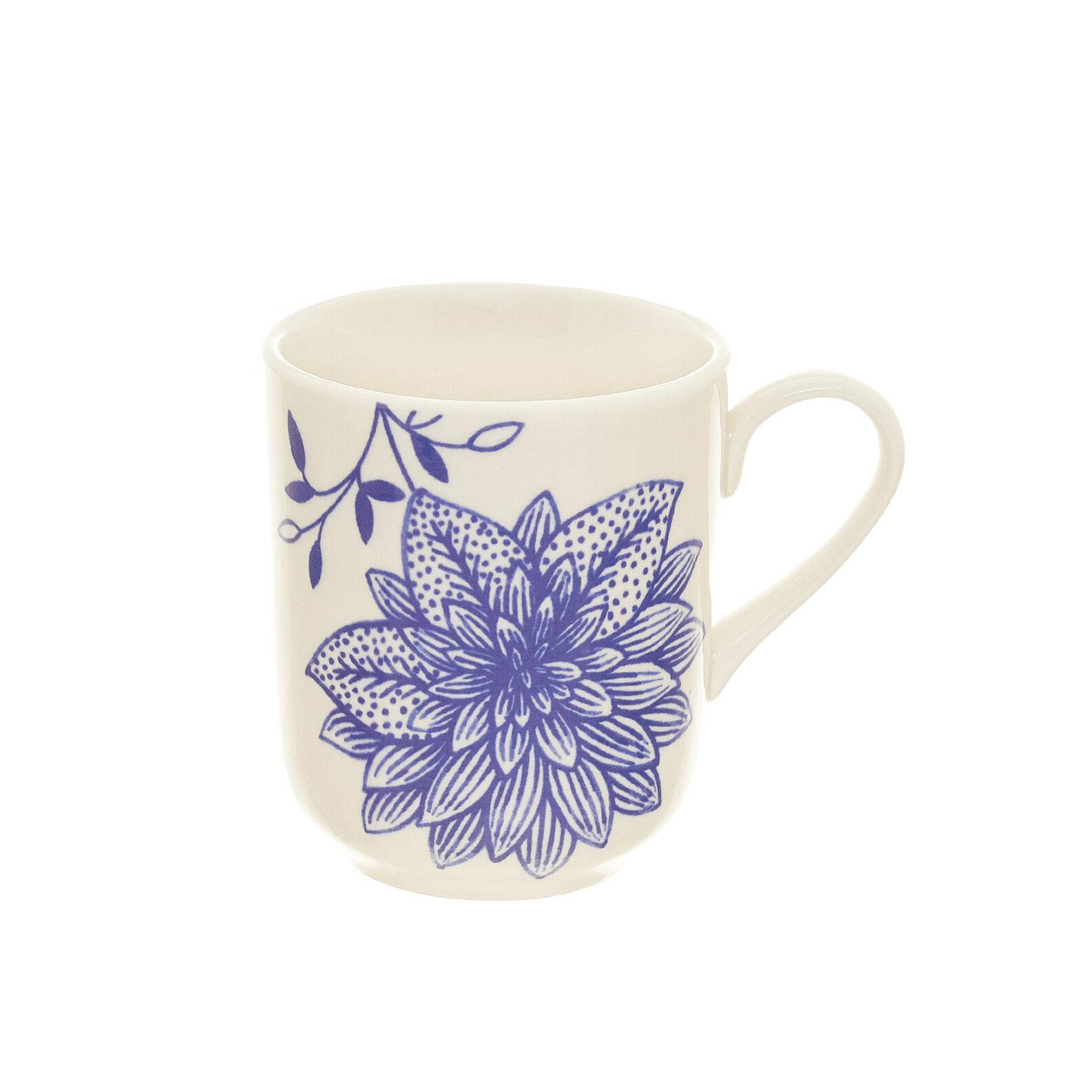 Mug stoneware decorazione botanica