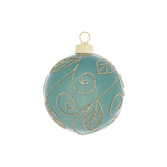Hand-decorated bauble with spirals