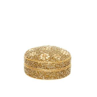 Portapillole decorato a mano con perline