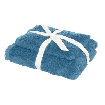 Set of 2 towels in 100% organic cotton