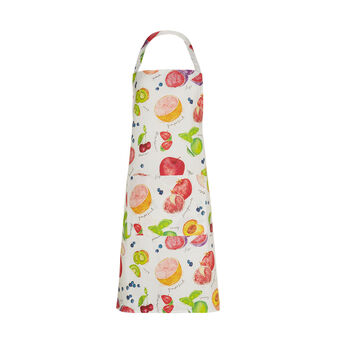 Bib apron in 100% cotton with fruit