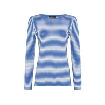 Striped patterned cotton t-shirt