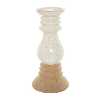 Ceramic candlestick with double finish