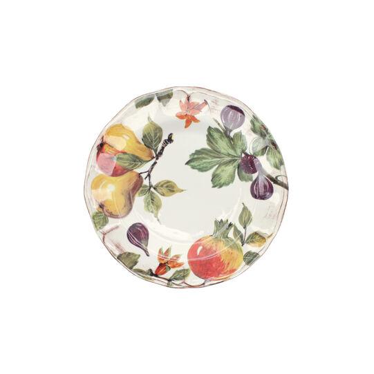 Grenade painted ceramic dinner plate