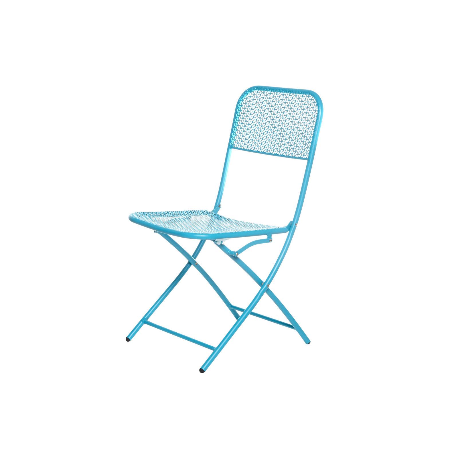Folding steel chair.