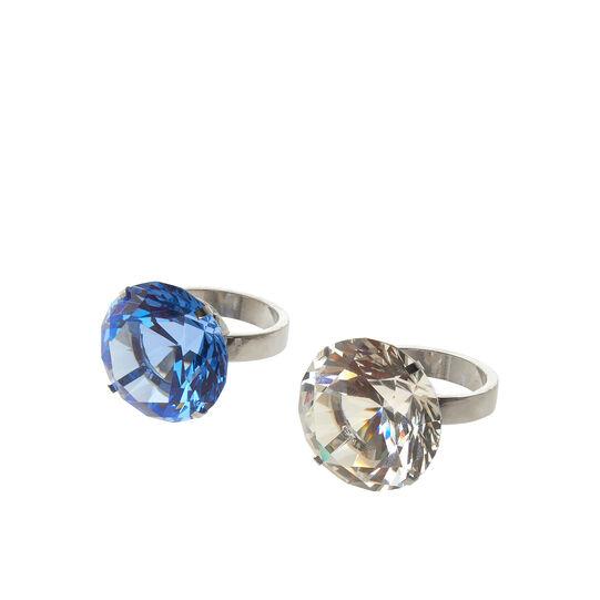 Portatovagliolo metallo e vetro diamante assortito