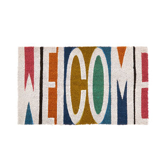 Welcome doormat in coconut