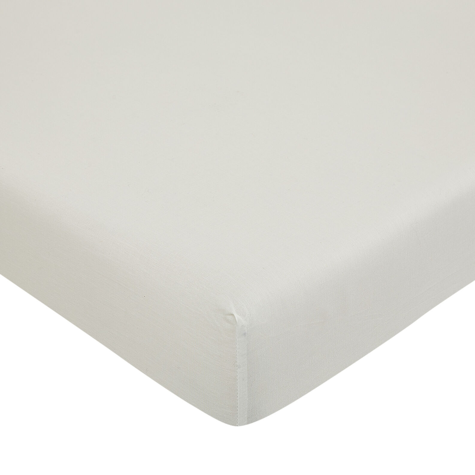 Solid colour fitted sheet in 100% cotton