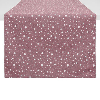 100% cotton table runner with stars print
