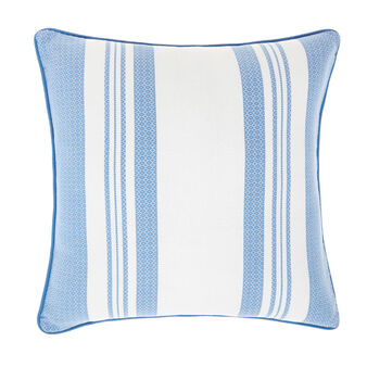 100% cotton striped patterned cushion