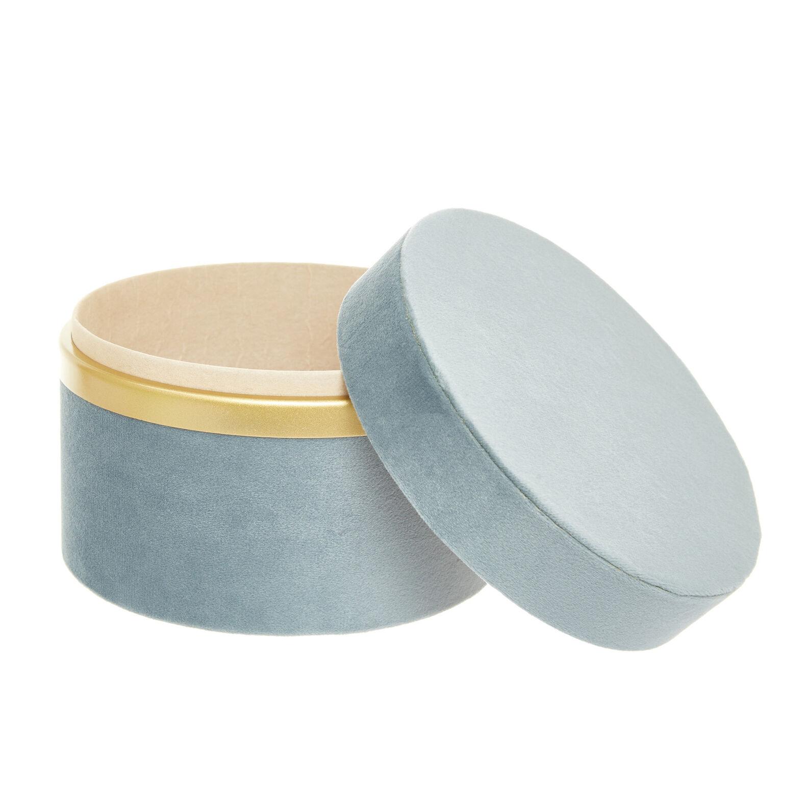 Round box in velvet