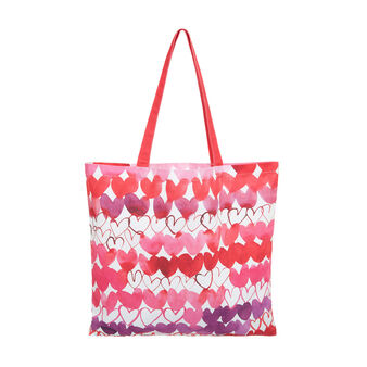 100% cotton shopper bag with Sandra Jacobs print