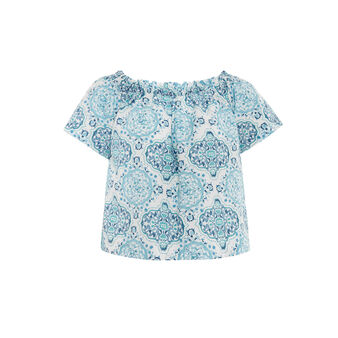100% cotton top with ornamental pattern