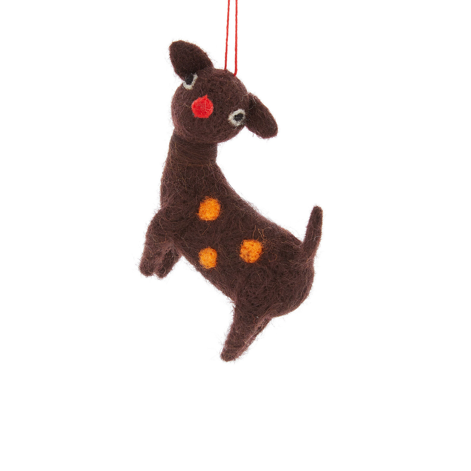 Deer decoration in felt