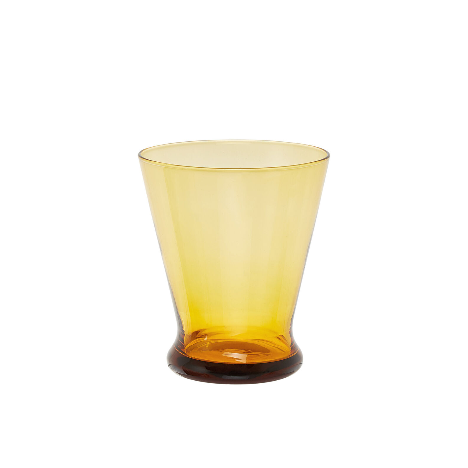 Short-stemmed goblet in coloured glass