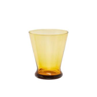 Short-stemmed goblet in coloured glass