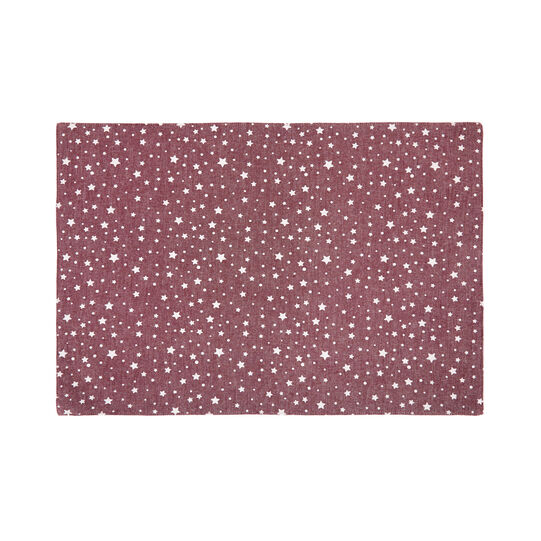 100% cotton table mat with stars print