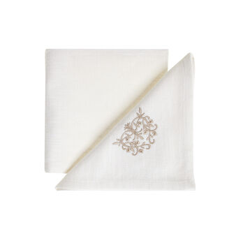 Burano embroidered napkin