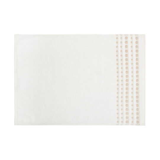 Cotton terry towel with polka dot trim