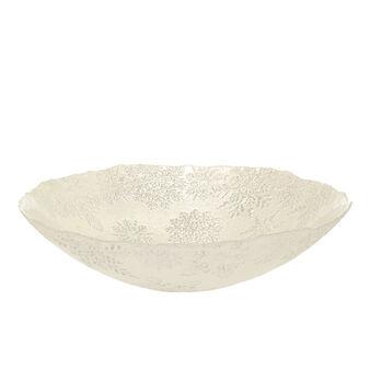 Coppa vetro decoro fiocchi di neve