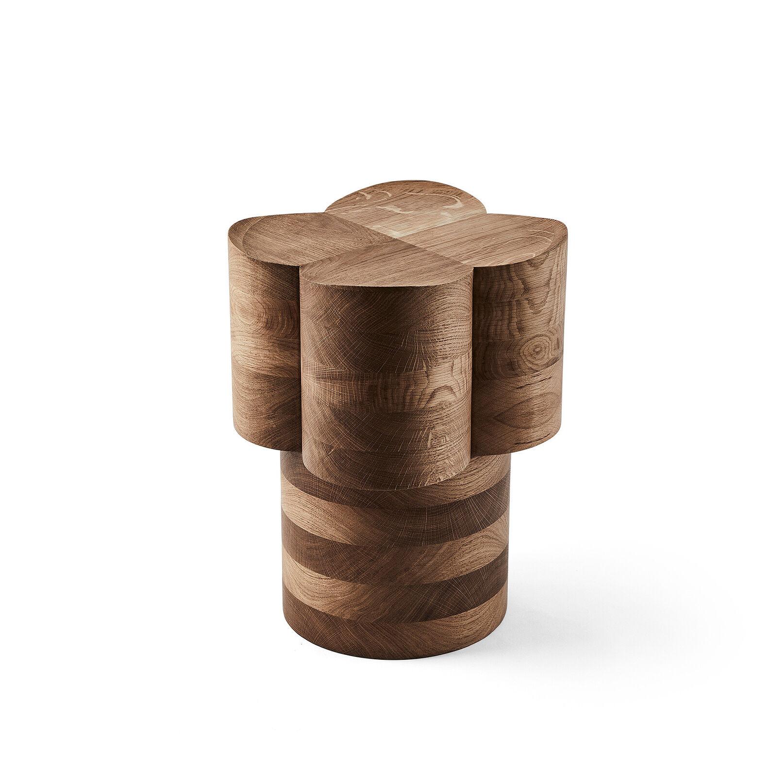 Oak wood stool by Agustina Bottoni