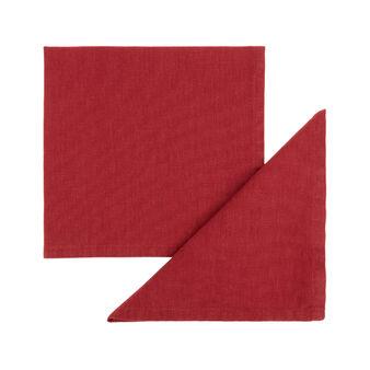 Set 2 tovaglioli puro cotone garment washed tinta unita