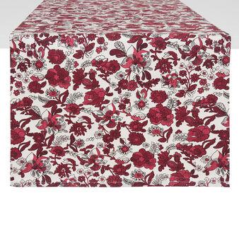 Runner puro cotone stampa fiori