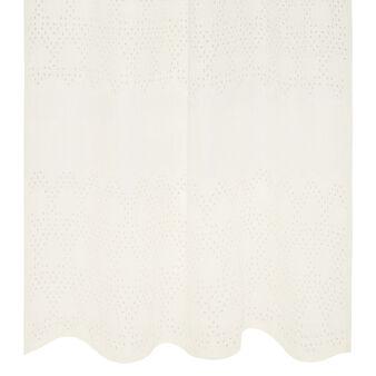 100% linen broderie curtain