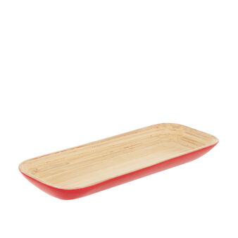 Small tray in two-tone bamboo