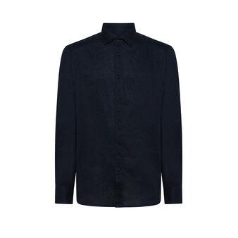 Luca D'Altieri 100% linen tailor-fit shirt