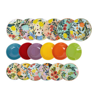 Set 18 piatti ceramica e porcellana Frida