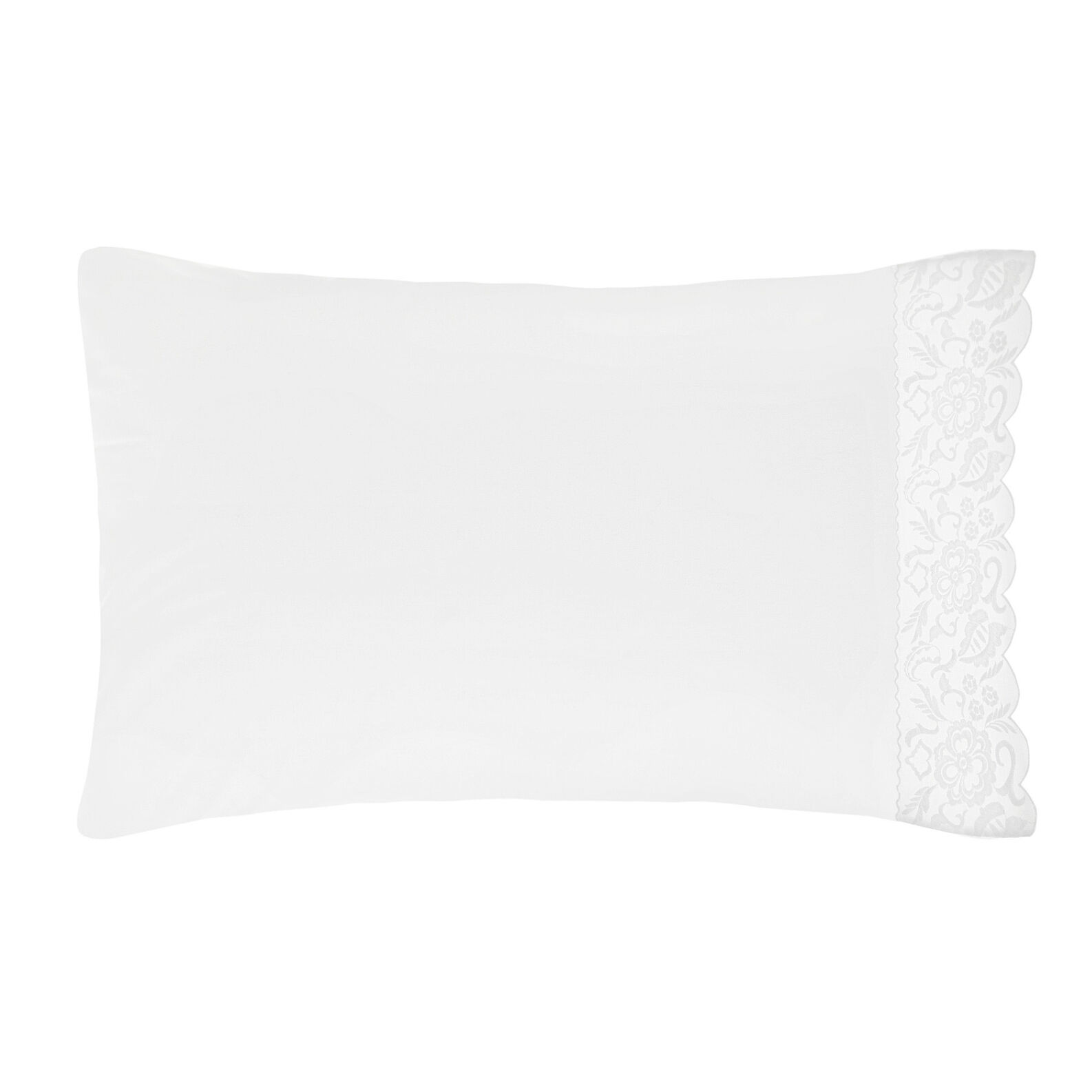 Portofino pillowcase in 100% cotton percale lace