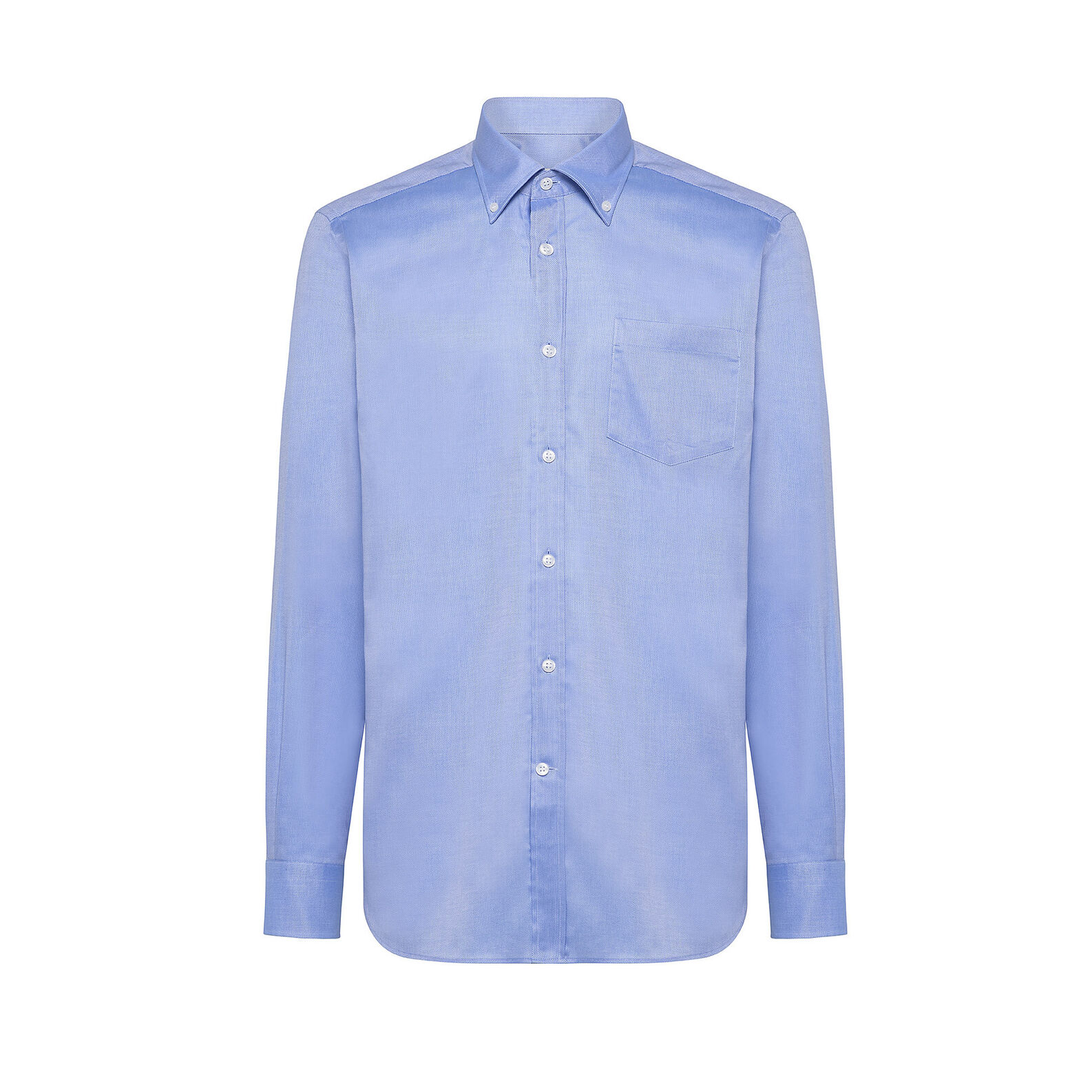 Regular-fit cotton shirt with button-down