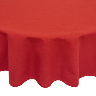 Round solid colour tablecloth in 100% iridescent cotton