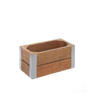 Wood and steel box