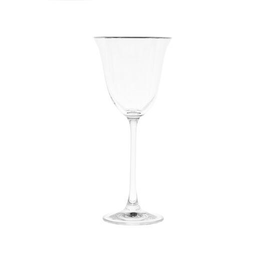 Calice vino vetro filo platino