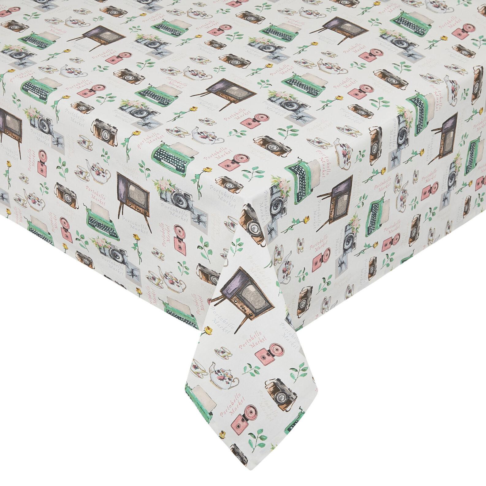 Portobello tablecloth in 100% cotton panama